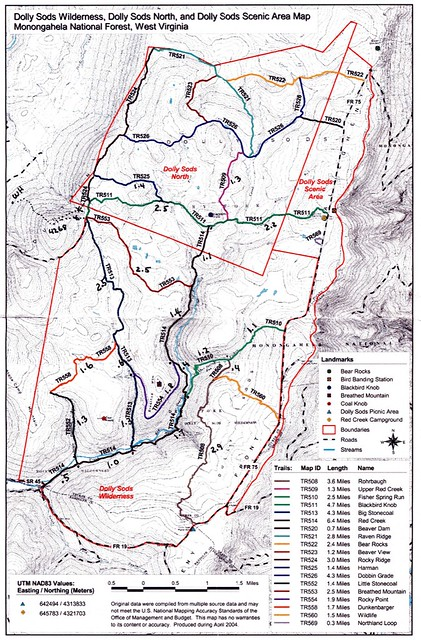 Dolly Sods map | Map of Dolly Sods trails | Monty VanderBilt | Flickr