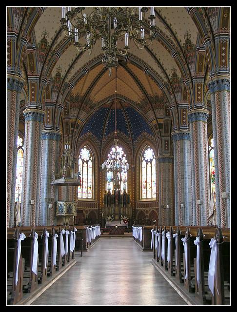 Kőszeg - Sacred Heart Church from inside
