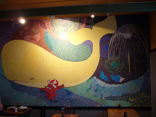 Wall art from the Sushi bar Ki-Mama (Full view) | by nitro2k01 (Gameboy Genius)