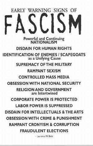 Warning Signs of Fascism, From CreativeCommonsPhoto
