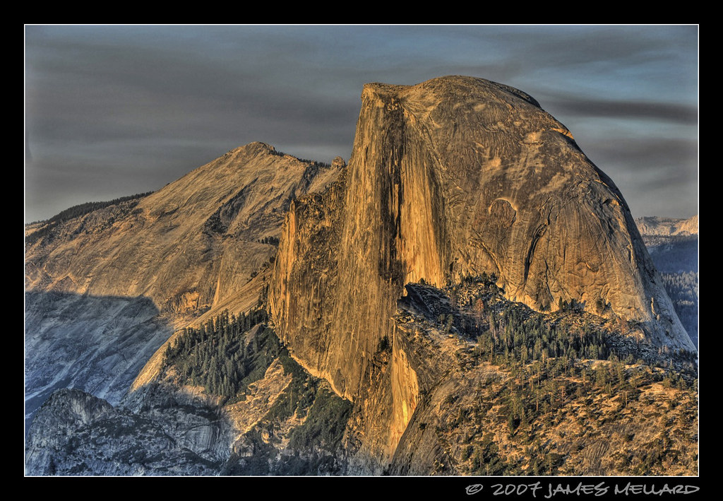 Half Dome at Sunset by Mellard
