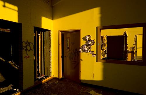 school sun sunlight abandoned yellow education classroom decay michigan room failure detroit warmth highschool urbanexploration collapse foundart abandonment urbex abandonedschool detroitpublicschools speramusmeliora itshallrisefromtheashes failedstate wehopeforbetterthings