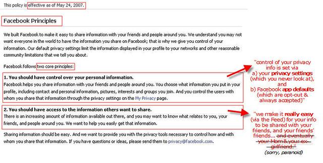 Facebook Core Principle(s): Share Your Info! | davemc500hats