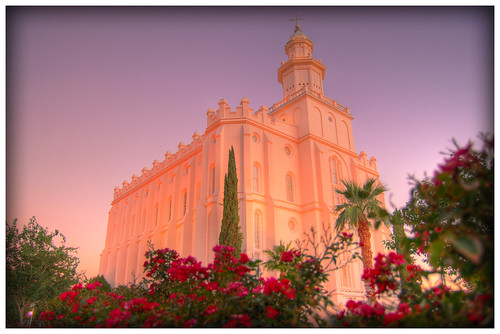 st sunrise temple utah george lds hdr