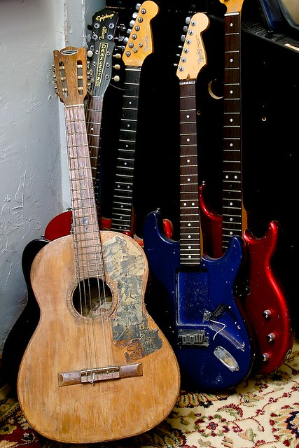Old Guitars | Old, broken guitars  The one in front is my fi