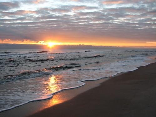 beach sunrise northcarolina outerbanks