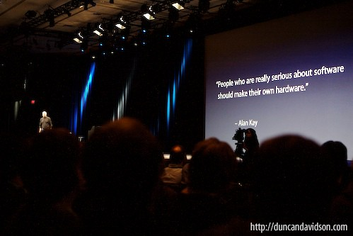Steve Jobs at MacWorld 2007 | by duncandavidson