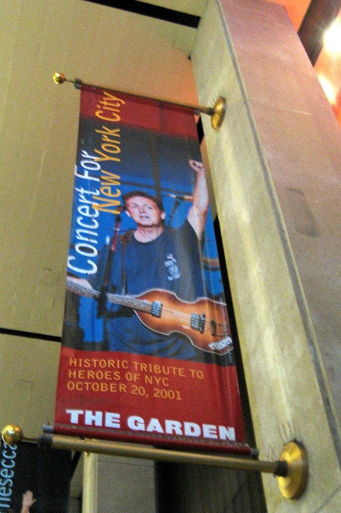 NYC - MSG: Concert For New York City Banner