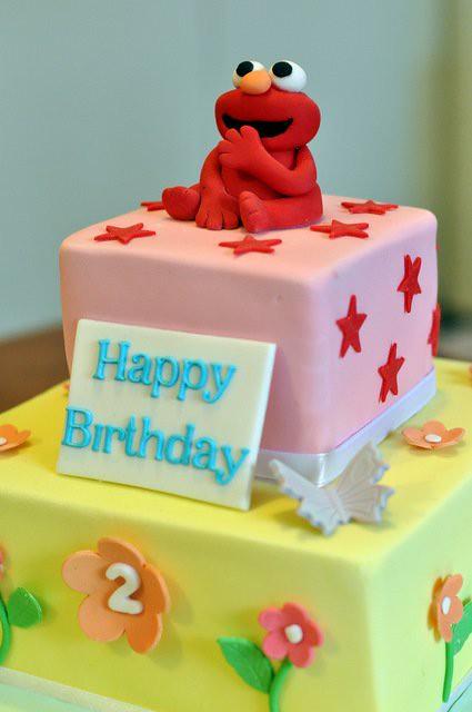 Stupendous Elmo Birthday Cake Pretty Cute Cakes Flickr Funny Birthday Cards Online Necthendildamsfinfo