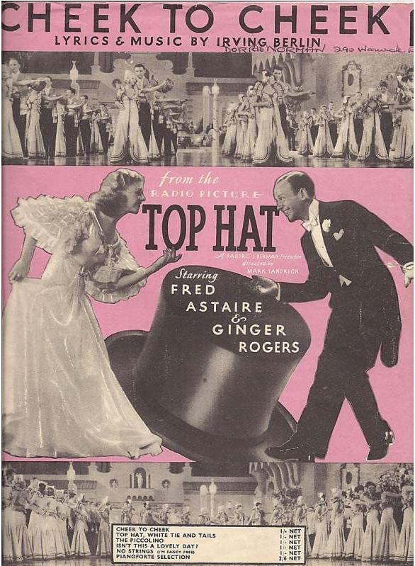 Fred Astaire & Ginger Rogers Sheet Music: Cheek to cheek 1