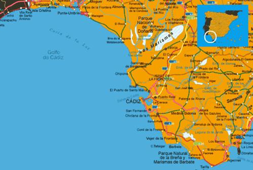 Mapa Costa De Luz Espana Muchoviaje Hoteles En Costa C Flickr