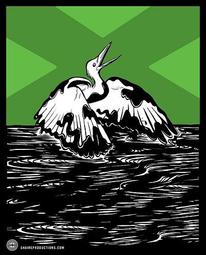 Oil Spill: Struggling Bird