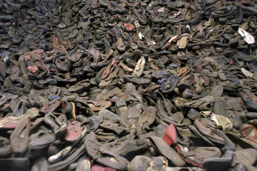 Mountain of shoes from holocaust victims
