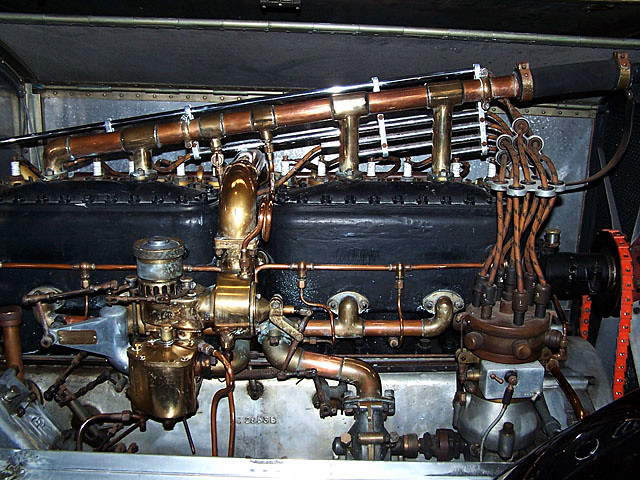 vintage Rolls engine