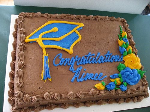 Graduation cake from Costco | by indieglam