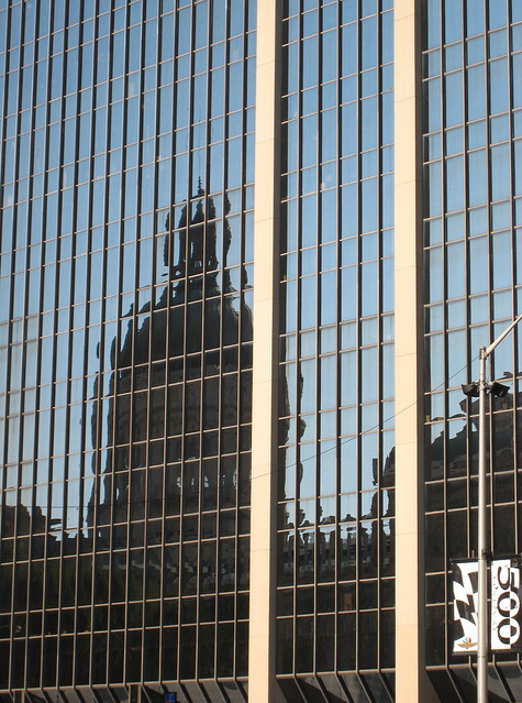 Indianapolis reflected