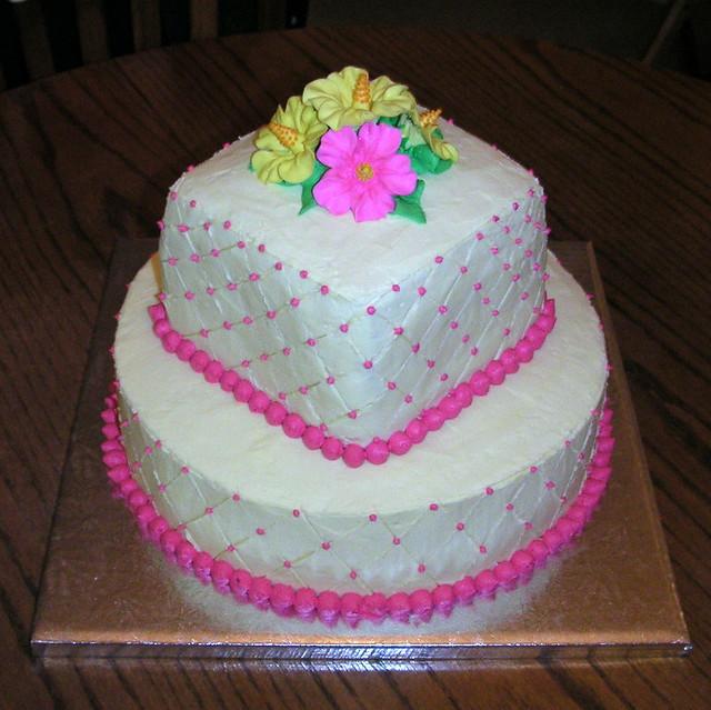 Fantastic Hawaiian Birthday Cake Cake I Made For My Cousins 30Th Bi Flickr Funny Birthday Cards Online Fluifree Goldxyz