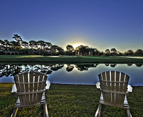 sunset lake grass sunrise canon golf chair florida sigma 1020 hdr 550d t2i burntpinewoodchairlakephotoshopcs5reflection