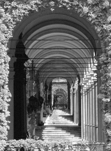 Arcade in the Mirogoj Cemetery