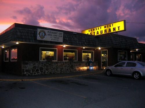 sunset purple diner