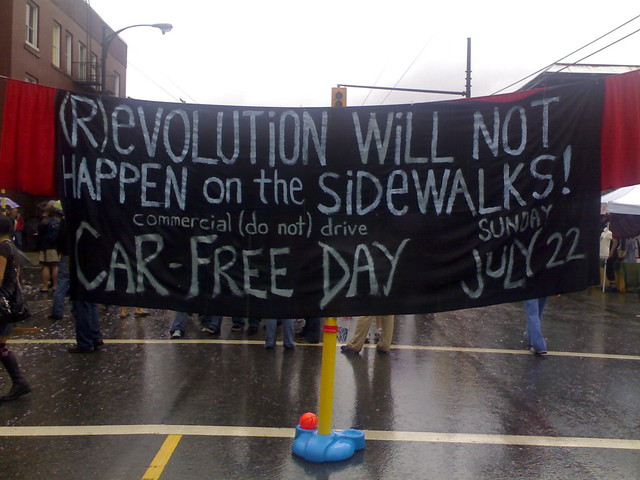 (R)evolution Will Not Happen on the Sidewalks