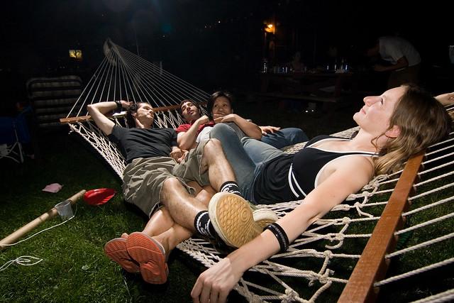 four on a hammock