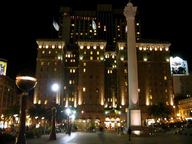 Westin St. Francis Hotel at night