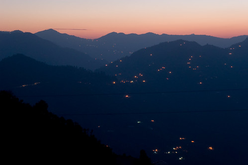 sunset india house building landscape geotagged photography lights village places things uttaranchal hdr sitla
