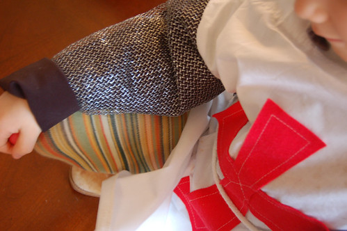 my knight likes striped tights   by SouleMama