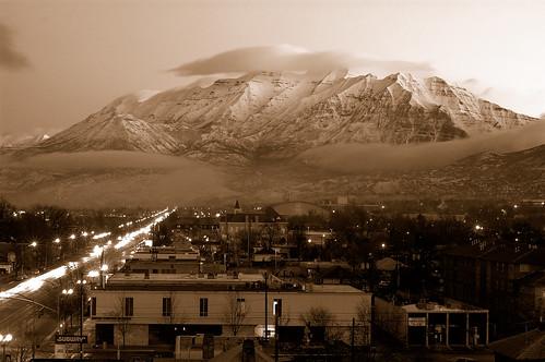 cloud snow sepia clouds sunrise nikon bravo view balcony mount pre timpanogos 12 d100 february 2007 50mmf14d my