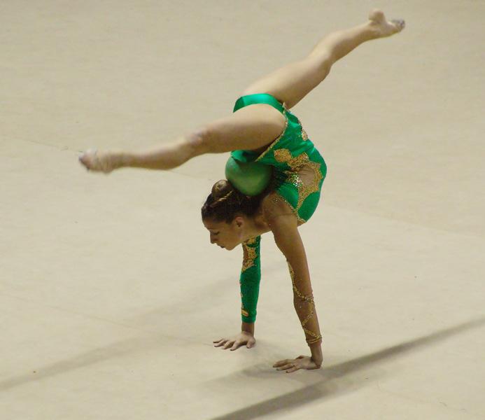 Ballerina di ginnastica artistica