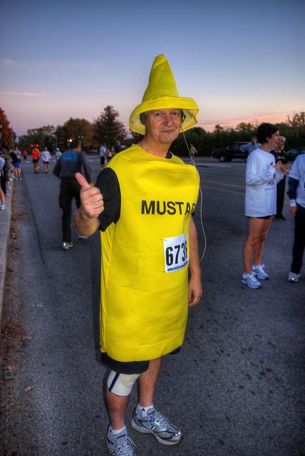 Mustard marathon runner, Cookeville, TN