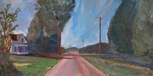 road painting landscape vermont acrylic chester revill billrevill