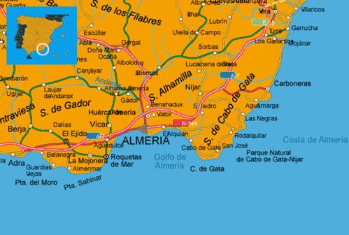 Maps Spain Costa Almeria Map Costa Dem Almeria Spanish Coa Flickr