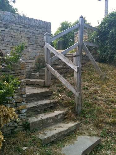 Steps up to Swinbrook Village Church | by Tip Tours