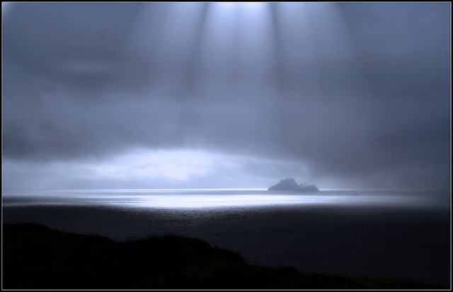 Light on irish sea