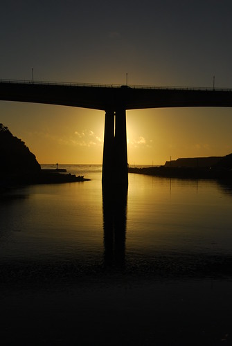 ocean california bridge sunset sea sky reflection water car clouds nikon mendocino d80