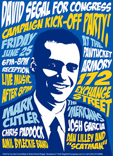 'Mericans Friday 25 June 2010 David Segal Benefit Concert Poster | by themericans