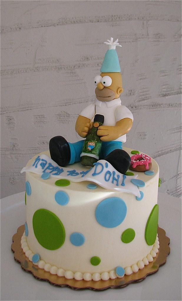 Astonishing Homer Simpson Birthday Cake Bca013 Simpsons Birthday Cake Flickr Funny Birthday Cards Online Sheoxdamsfinfo