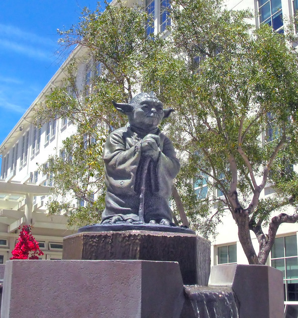 Industrial Light And Magic San Francisco Ca: Yoda Is Honored At The Presidio Where The