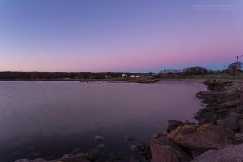 borre horten steinbrygga magenta pink purple sunrise visualmagic vestfold norway