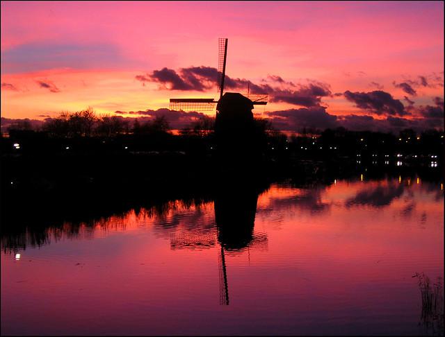 Sunset over Alkmaar - the Netherlands
