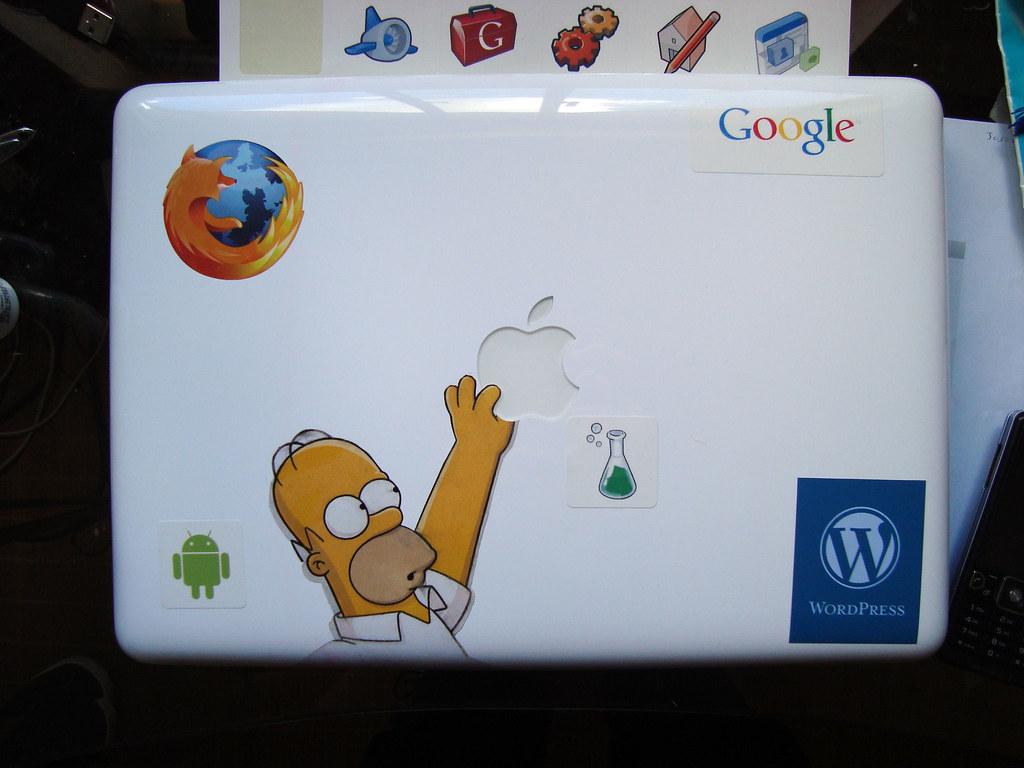 Mi MacBook con Stickers