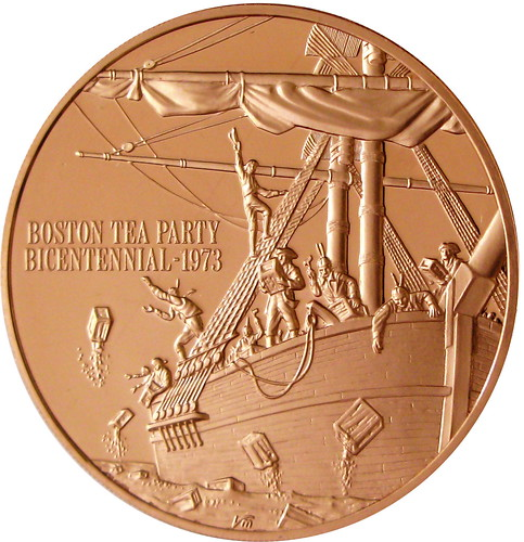 Bronze Franklin Mint Boston Tea Party Bicentennial 1973