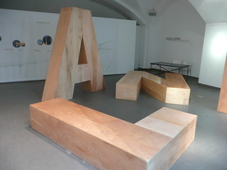 big wooden letters
