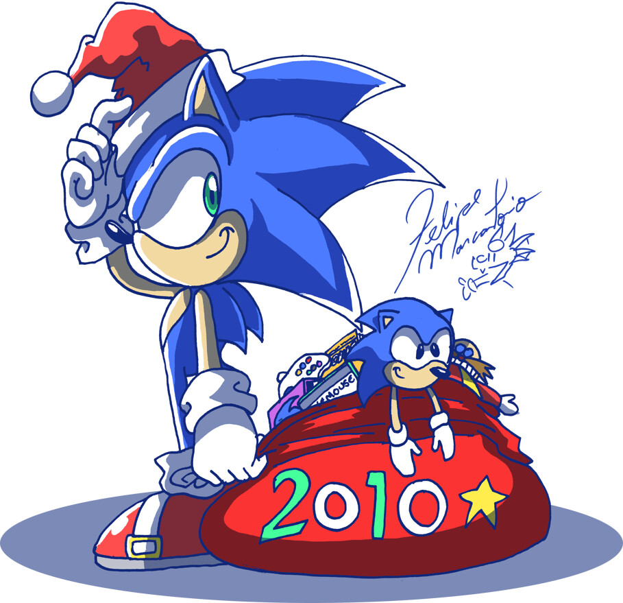 Sonic Christmas.Sonic Christmas Sonic In His Christmas Attire