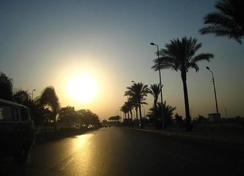 road city sunset sun photography flickr traffic egypt sunny cairo القاهرة elnasr colorphotoaward elnasrroad andrewashenouda
