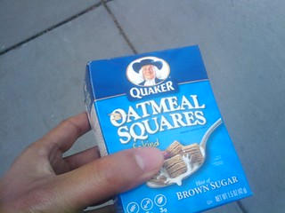 They're giving out free Quaker Oatmeal Squares at Foggy Bottom Metro. | by brownpau