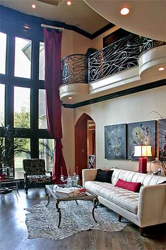 Contemporary Gothic Living Room This Black And White