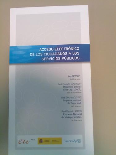 Recibido. Acceso electrónico de los ciudadanos a los servicios públicos
